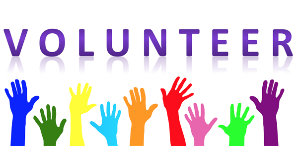 volunteer clipart with raised hands