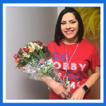 image of the campus teacher of the year Mrs. Rodarte.