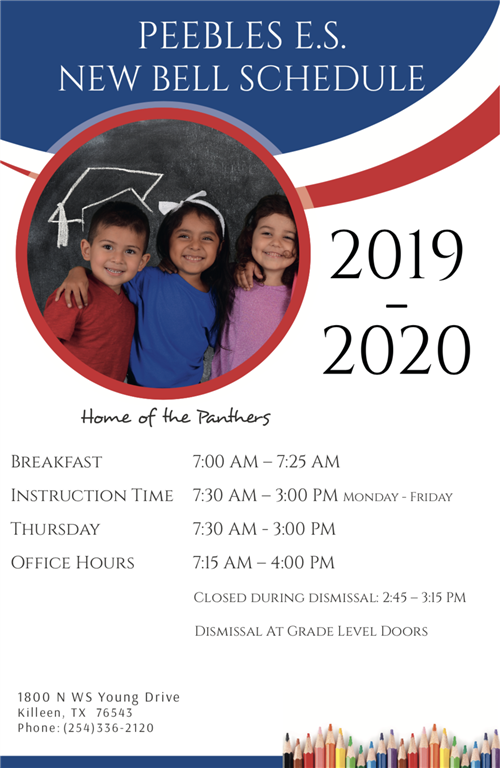 School Hours Flyer