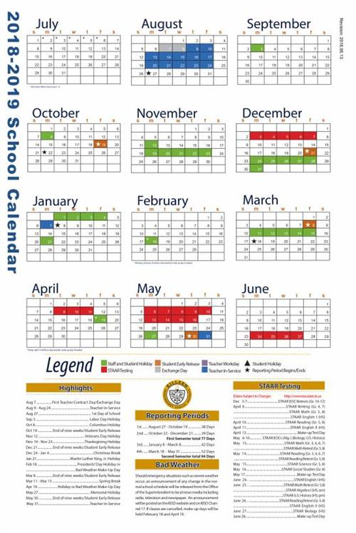 Kisd Calendar 2019 Events and Announcements / Killeen ISD Calendar