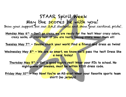 STAAR Spirit Week