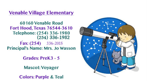 Venable Village Contact Information