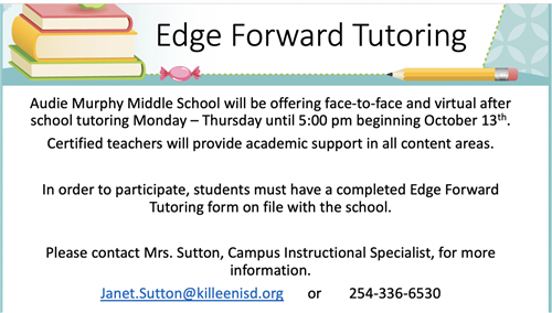 Edge Forward Tutoring Flyer