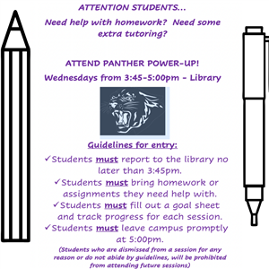 Panther Power-Up tutoring