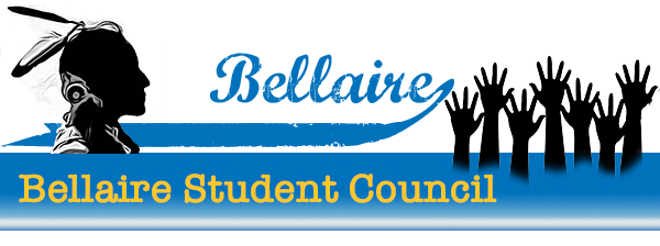 Student Council background image. Text of student council on a white to blue gradient.