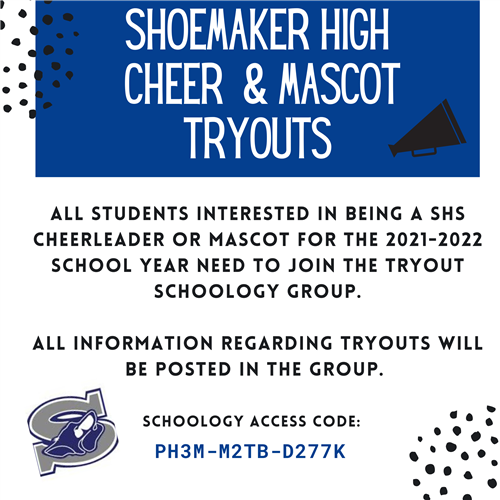 Shoemaker High Cheer & Mascot Tryouts