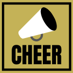 Image of Cheer megaphone and the word cheer
