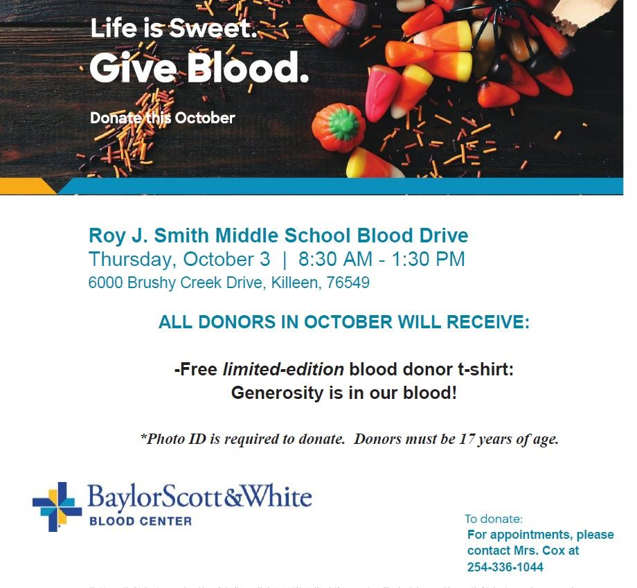 Smith MS Blood Drive