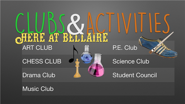Clubs and Activities page